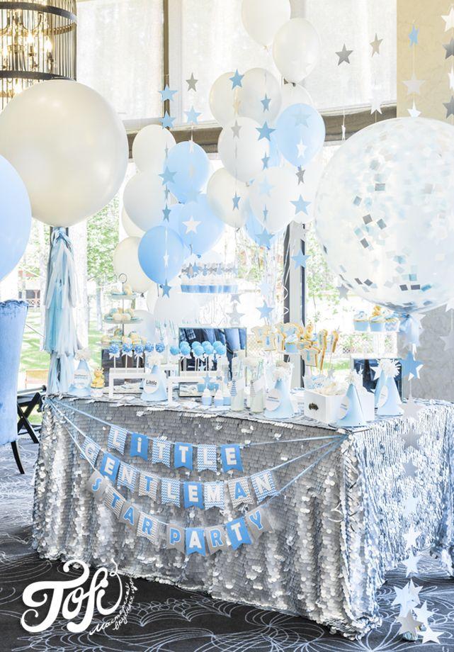 Голубой десертный стол