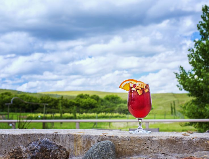 Enjoy refreshing Sangria at the Cypress Hills Vineyard & Winery - great stop for besties!