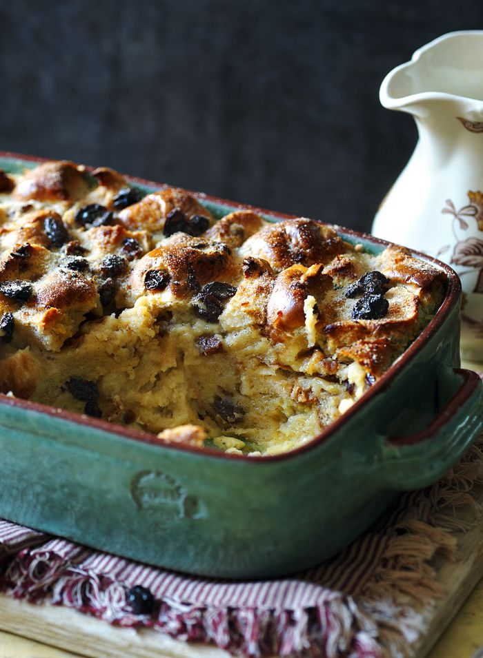 Got leftover hot cross buns? (Don't laugh!) Make them into a glorious bread and butter pudding studded with fruit and crisp on top.