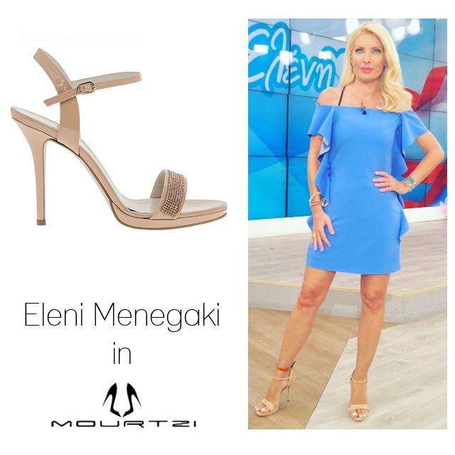 ΕΛΕΝΗ ΜΕΝΕΓΑΚΗ Eleni Menegaki in Mourtzi shoes #Mourtzi #eleni #elenimenegaki #sandals #nudeshoes #heels #bridal