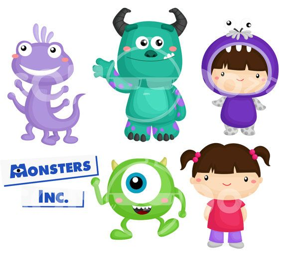 Monster Inc Clipart / Digital Clip Art for Commercial by comodo777