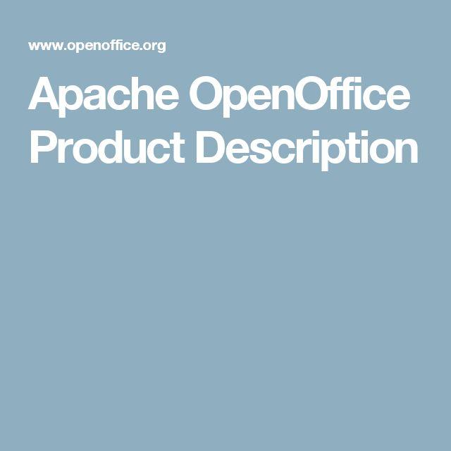 Apache OpenOffice Product Description