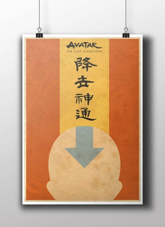 Avatar The Last Airbender Tla Aang Minimalist Poster Print Etsy Minimalist Poster Poster Prints The Last Airbender