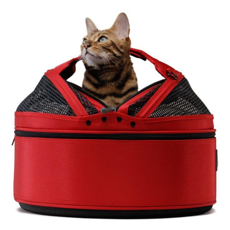 SLEEPYPOD - ROUGE - Panier de transport pour chien et chat - Dog&Cat Design