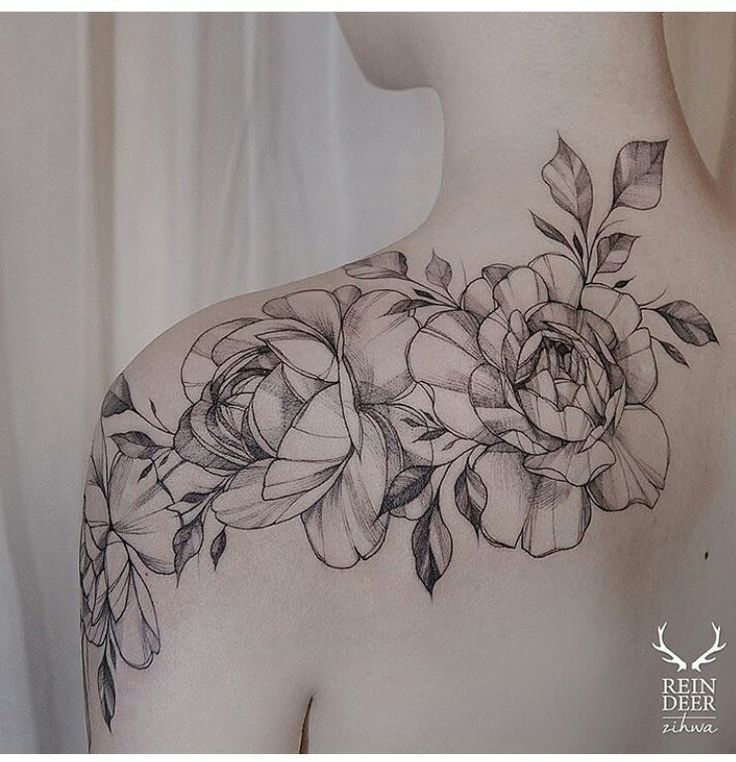 Floral shoulder piece
