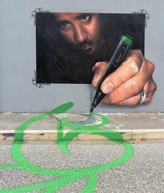 Интерактивное уличное искусство в Италии / Каифа Козимо 2