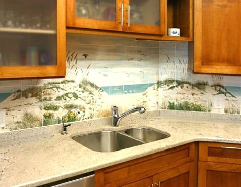 Kitchen Backsplash Art best 25+ beach style tile murals ideas on pinterest | beach style