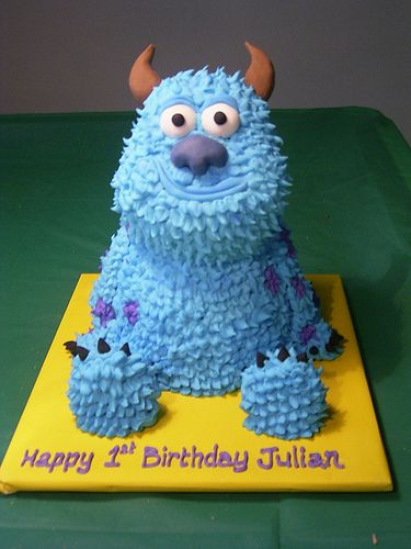 MONSTERS INC SULLY CAKE by Sweet Cake O'Mine, via Flickr