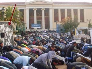November 2010 Muslims held open-air prayers in 15 locations across Athens. In one case, over 1,000 Muslims took over the square in front of the National Museum of the Greek Capital