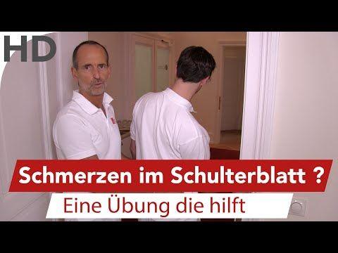 Schulterblatt Schmerzen  Übung vom Schmerzspezialisten Roland Liebscher-Bracht