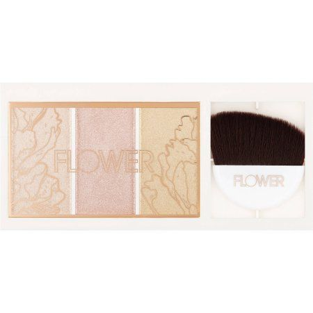 Browse unbiased reviews and compare prices for FLOWER Beauty Shimmer & Strobe Highlighting Palette. It is often sort of hard to find a good drugstore highlight! Typically, they can be glittery, powdery, or just not pigmented! This highlight palette has three shades that are all super great quality! I love the shades. You get a champagne, pink, and gold shade all in one palette and it only costs $13! I highly recommend it.