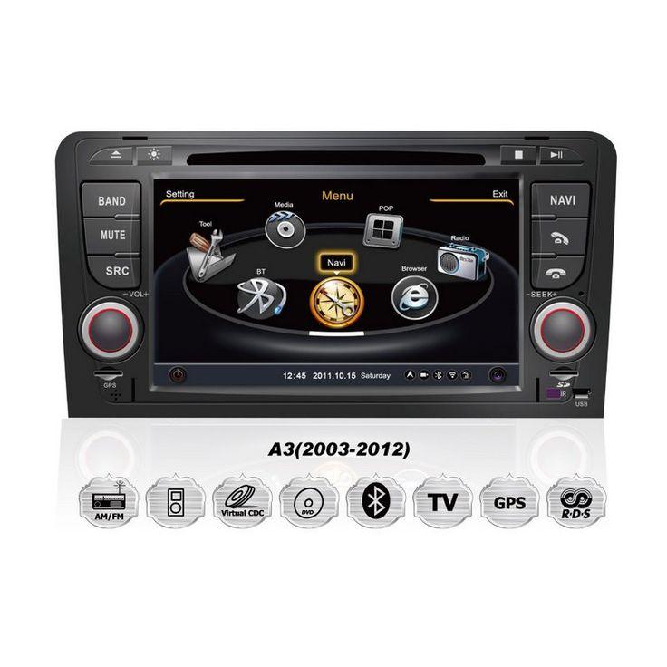 audi a3 rns s100 autoradio dvd gps einbau navigationssystem car gps navigation system. Black Bedroom Furniture Sets. Home Design Ideas