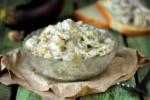 Рецепт закуски из баклажанов с майонезом и чесноком
