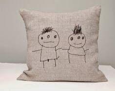 Handprinted cushion by Rasaoga