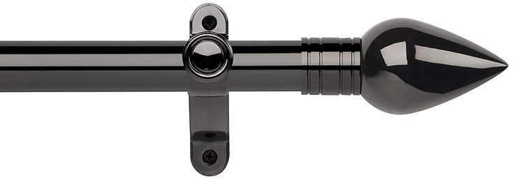 Galleria metals 35mm eyelet curtain pole in a black nickel