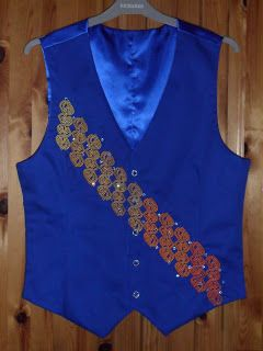 Gallimaufry: Irish dance waistcoat I designed and made (before all the bling was finished).