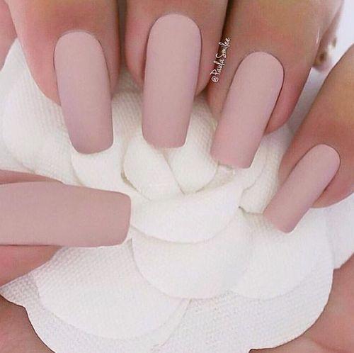 Ongles En Gel Rose Pale Mat. Pin for Later 30 Manucures Mattes Qui Vont  Vous Faire Oublier Votre Top Coat Glossy