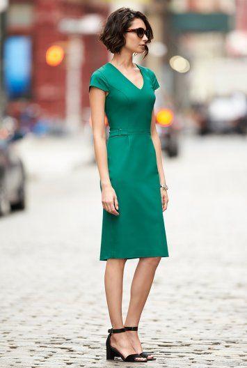Clean Sharp V-neck Dress for Tall Women | Long Tall Sally USA
