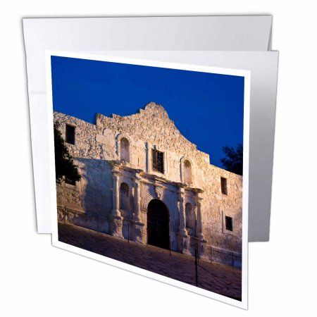 3dRose The Alamo, San Antonio, Texas, USA - US44 BJN0003 - Brian Jannsen, Greeting Cards, 6 x 6 inches, set of 12