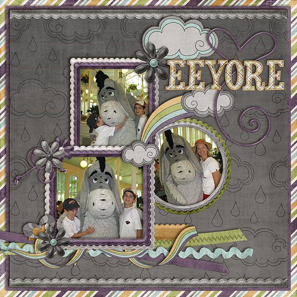 Disney Love scrapbook. I cant express enough how freaking much I love this! I LOVE EEYORE!!!