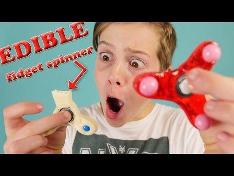 Best Fidget Spinner TRICKS & how to make EDIBLE fidget spinner - YouTube