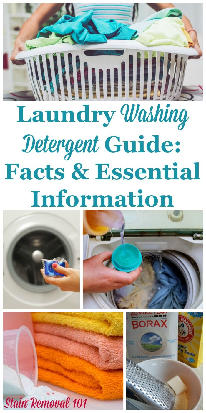 Laundry Washing Detergent Guide Facts Essential Information With Images Washing Laundry Washing Detergent