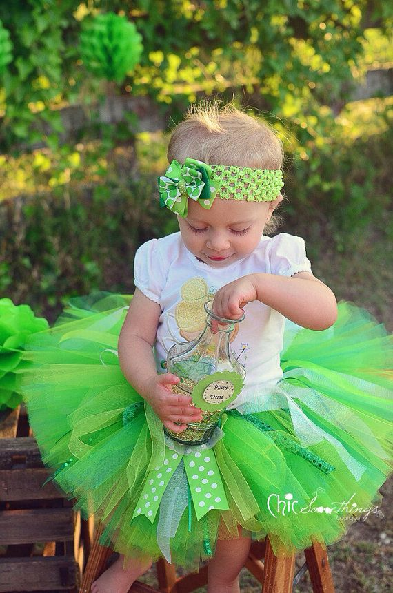 Tinkerbell tutu, Baby Tutu, photo Prop Tutu, Childrens Toddler, Princess Birthday, tinkerbell halloween costume, green tutu