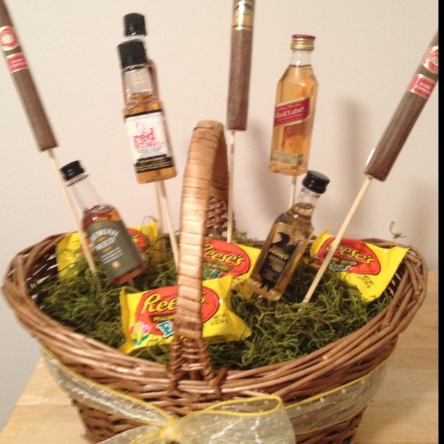 11 best awesome easter baskets i would love images on pinterest the mans easter basket great idea with the cigars negle Gallery