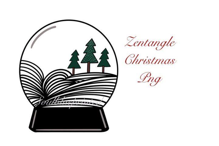Zentangle Christmas Snow Globe Png Doodle Art Design 819974 Illustrations Design Bundles Doodle Art Designs Christmas Snow Globes Doodle Art