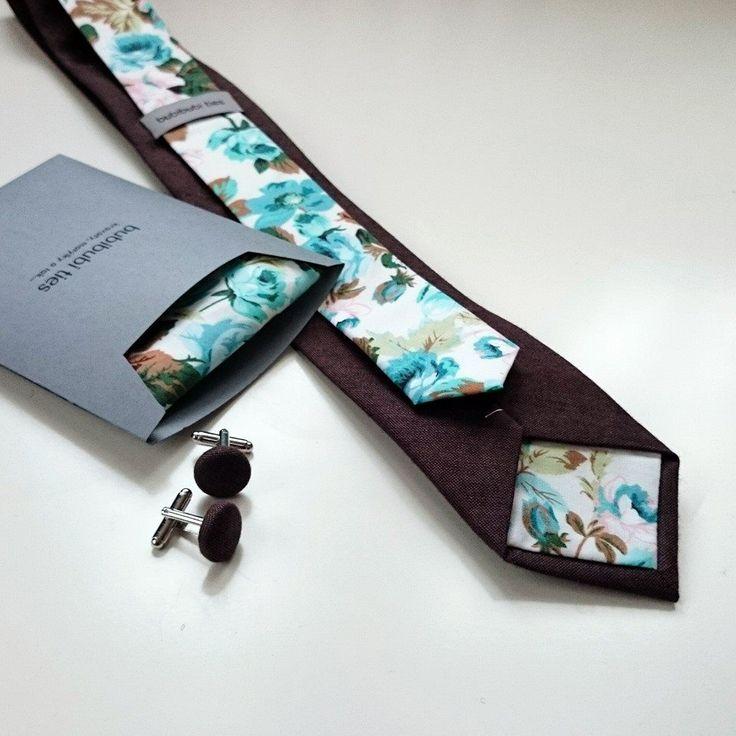 Custom wedding order, Twin necktie, pocket square and cufflinks.