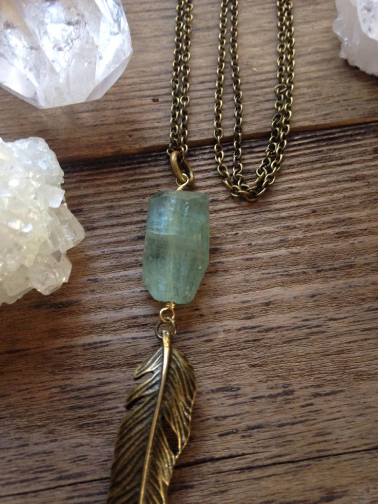 A personal favorite from my Etsy shop https://www.etsy.com/ca/listing/287892587/aquamarine-feathered-muse