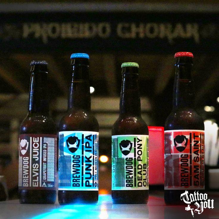 NOVIDADE NO CARDÁPIO!!! Quatro novos rótulos da cervejaria Brewdog, da Escócia. Conhecida por sua criatividade e inovação na produção de suas cervejas, a marca produz uma extensa variedade de estilos como Stout, IPA, Lager, entre outras. Venha experimentar: Elvis Juice (6,5%) – American Ipa Punk IPA (5,6%) - American Ipa Dead Pony (3,8%) – American Pale Ale 5AM Saint (5%) – Red Ale