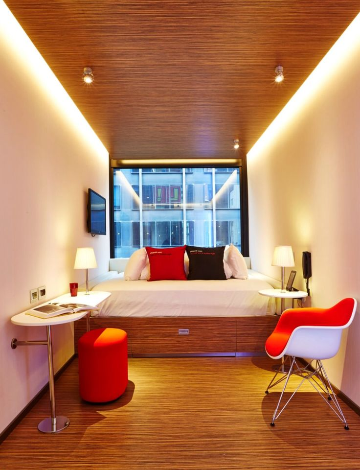 Citizen M hotel room via NY Times. Compact. Sleepable?