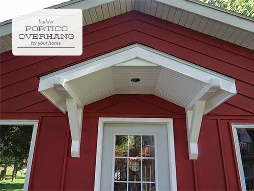 One Project at a Time - DIY Blog: Installing the Cabin Portico Includes instructions to attach portico to the house!