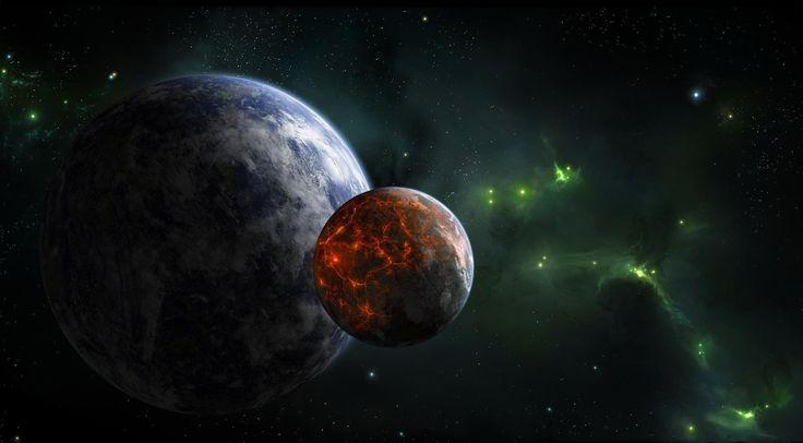 Планеты, звезды, туманность, галактика обои, картинки, фото
