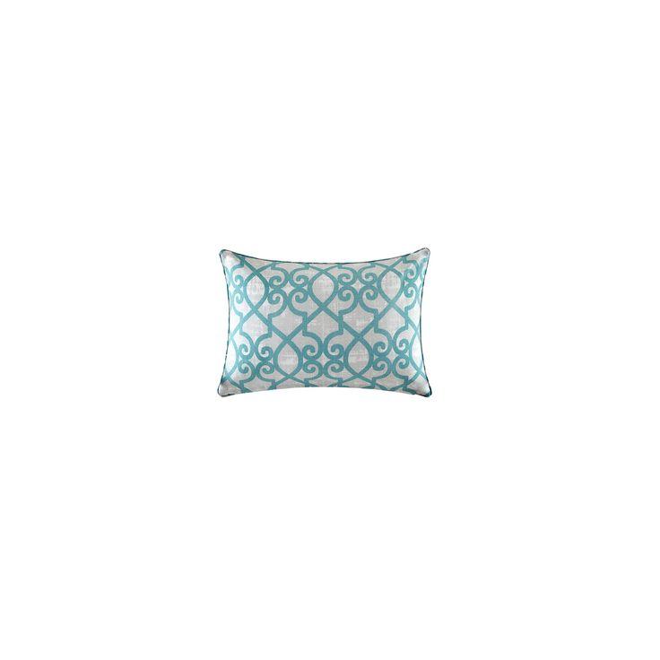Pismo Printed Fretwork 3M Scotchgard Outdoor Pillow Aqua (Blue) - 26x26
