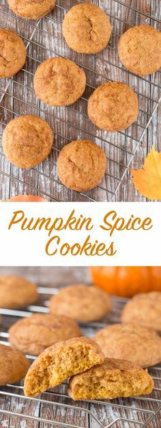 These soft and chewy pumpkin spice cookies are fragrant and full of flavor. The texture is soft and fluffy, and chewy at the same time!