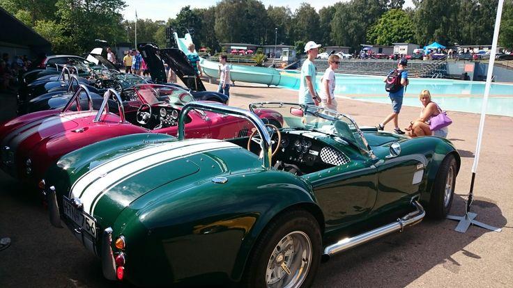 Cobras. All of them are replicas.  Halmstad, Sweden, Sports Car Event.