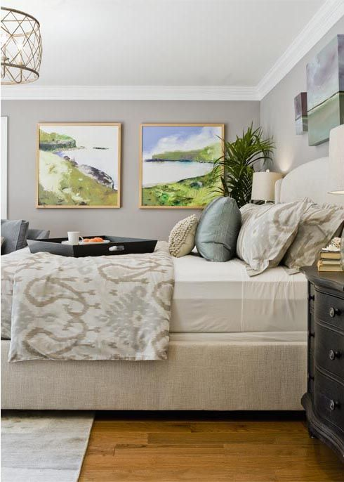 Bedroom Of Cream Beige And Blue Truly Tranquil Love The Pop Beach
