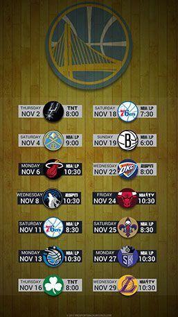 Golden State Warriors 2017 Mobile Schedule Wallpaper