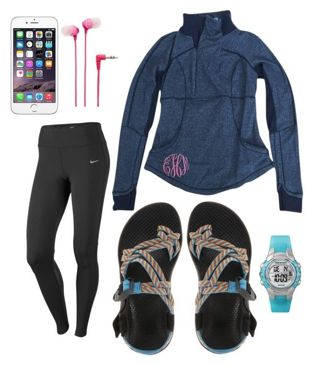 """Chac walk!!!! READ D!!!!"" by miss-southern-girl ❤ liked on Polyvore featuring NIKE, lululemon, Chaco, Timex and Sony"