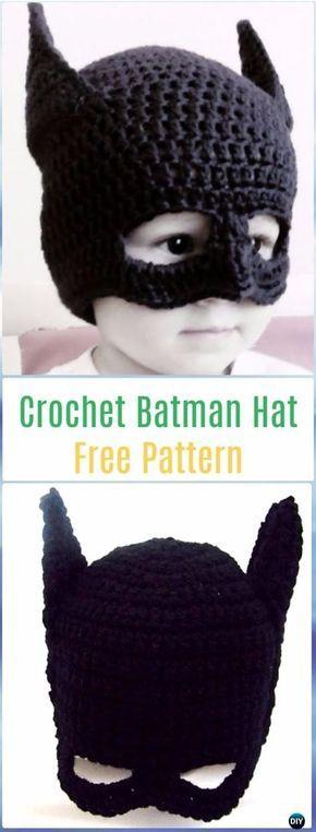 Crochet Batman Hat Free Pattern with Video - Crochet Halloween Hat Free Patterns