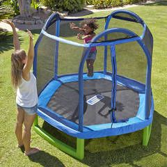 Sportspower 7FT My First Trampoline & Enclosure, read reviews and buy online at George at ASDA. Shop from our latest range in Kids. Spring into the summer wi...