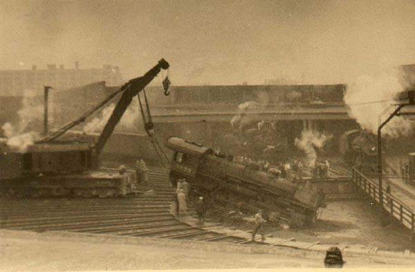 Pulling A Locomotive From The Turntable Pit Boston