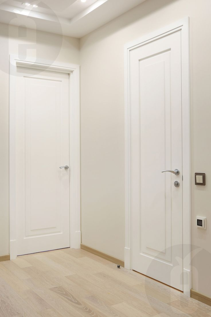 White doors go well with any color trim. #interior #doors