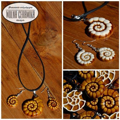Ammonite necklace -brown version.