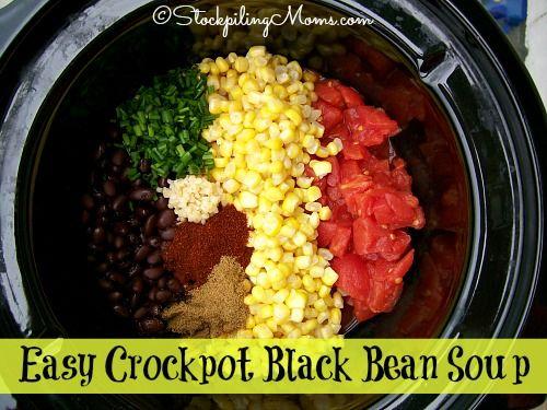 Black bean soup, Black beans and Crockpot on Pinterest