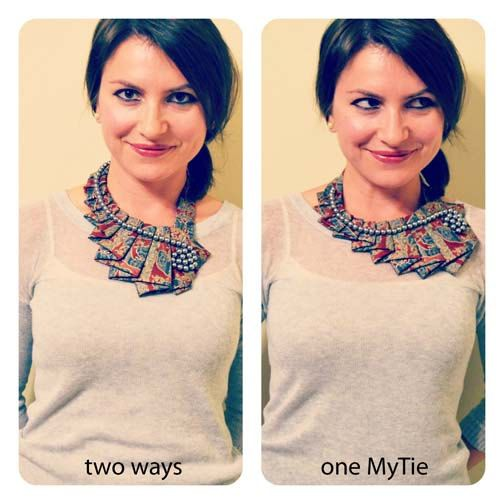 Not convinced this is a good idea but I love that she repurposed men's ties.