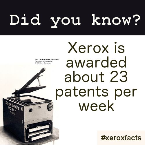 #XeroxFacts Not only was Chester Carlson, the father of Xerography, a patent attorney. Xerox is also recognised as a top innovator: http://ow.ly/qxJGh