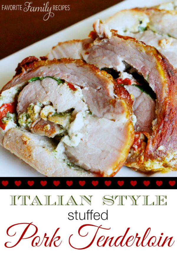 This is quite possibly the best stuffed pork tenderloin I have ever had. I made this for my family last week and they all LOVED it.
